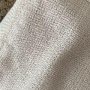 Tory Burch Pants - Tory Burch Cropped Pants Cream Texture Stripe 6